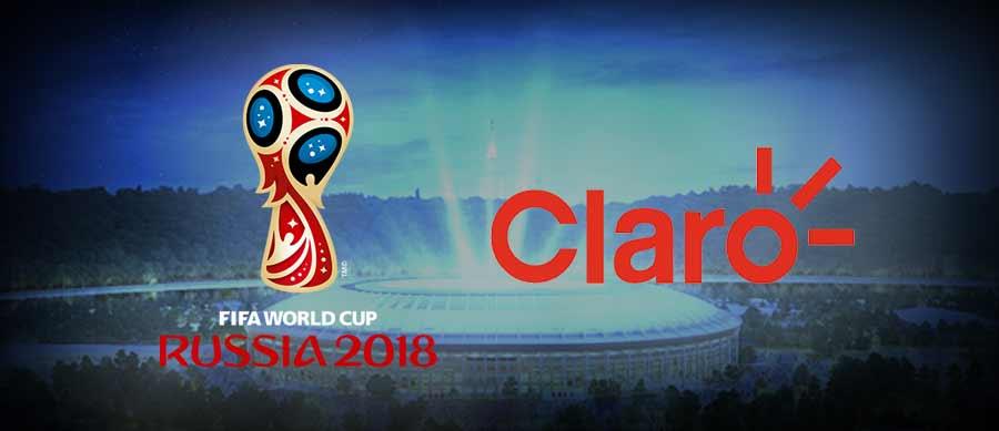 claro empresas e simbolo da Copa Rússia 2018